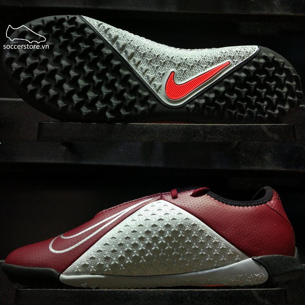 Nike Phantom VSN Academy TF- Team Red/ Metallic Dark Grey/ Metallic Silver AO3223-606
