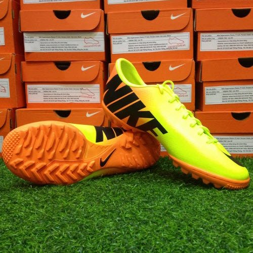 Giày bóng đá chính hãng Nike mercurial victory IV TF Volt- Black- Citrus 48d87bb73
