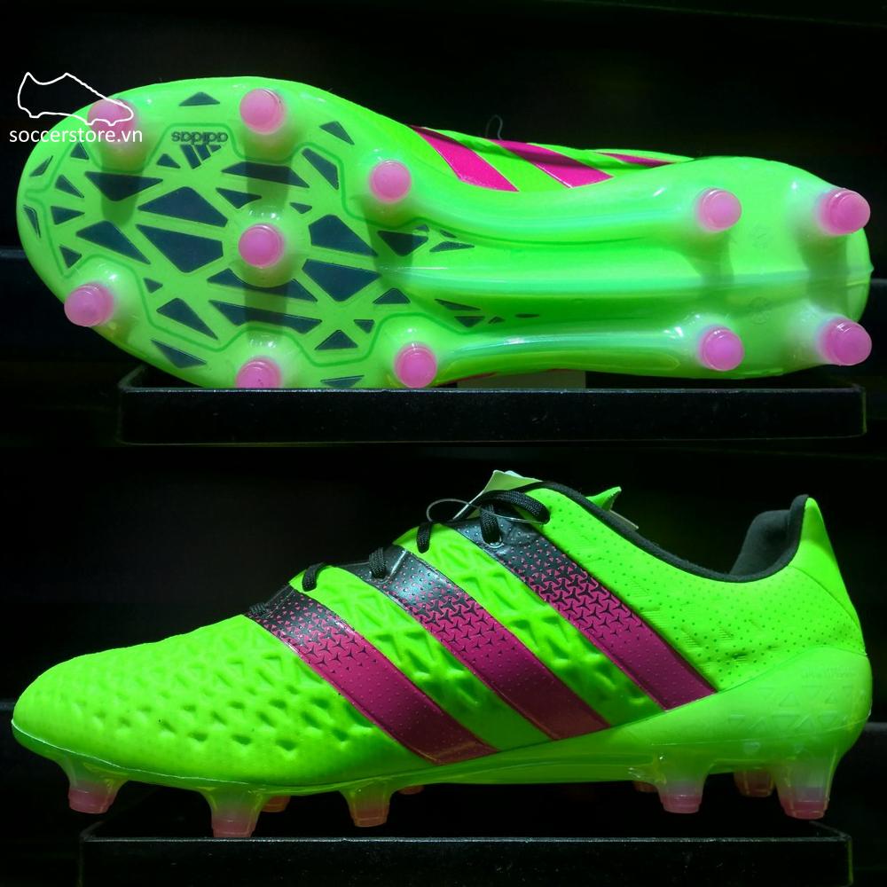 separation shoes 91c0d f29d6 Adidas Ace 16.1 FG AG Solar Green- Shock Pink- Core Black AF5083