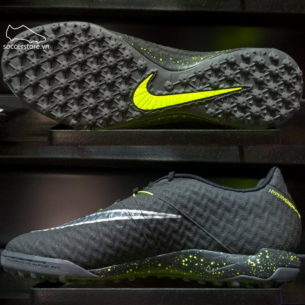 uk availability 7a1f3 1866f Nike HypervenomX Finale TF Black/ Volt Metallic/ Silver ...