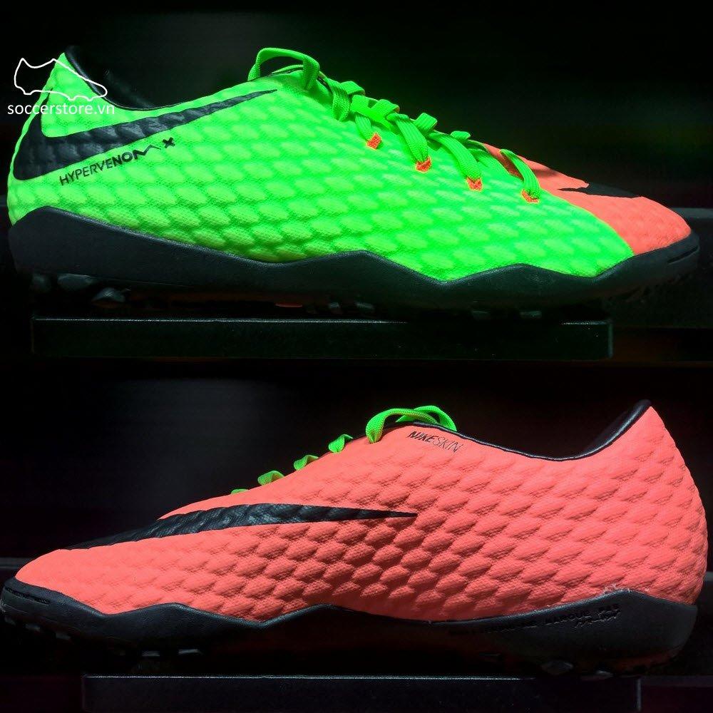 Nike Hypervenom Phelon III TF- Electric Green/ Black/ Hyper Orange 852562-308
