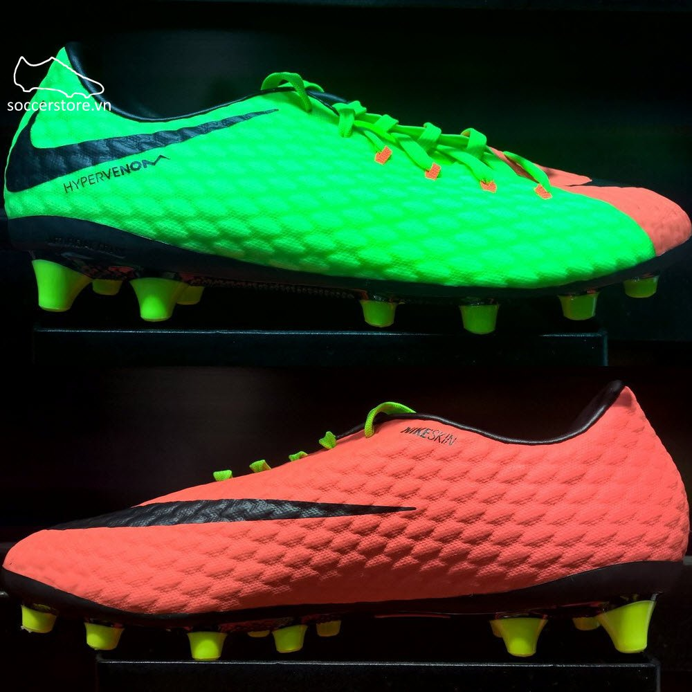 Nike Hypervenom Phelon III AG Pro- Electric Green/ Black/ Hyper Orange 852559-308