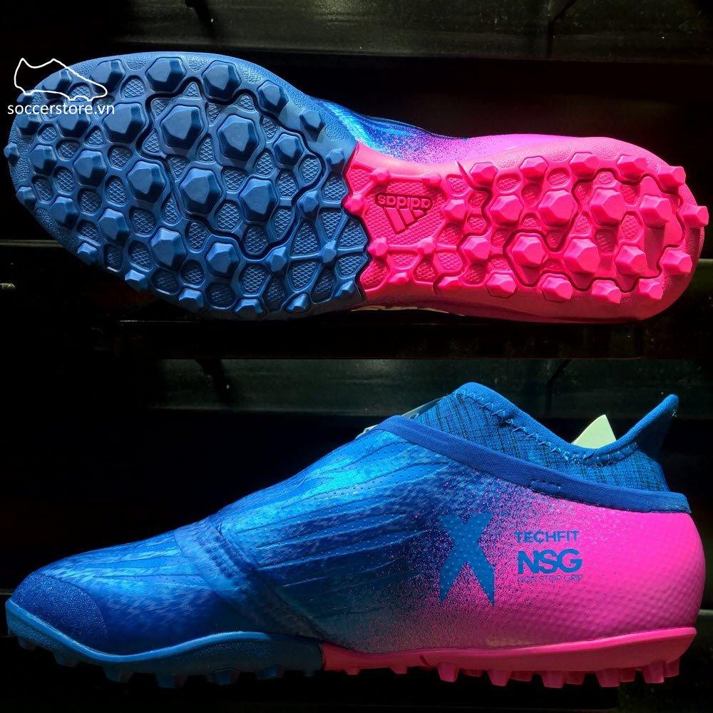 Adidas X Tango 16+ Purechaos TF- Blue/ White/ Shock Pink S82083
