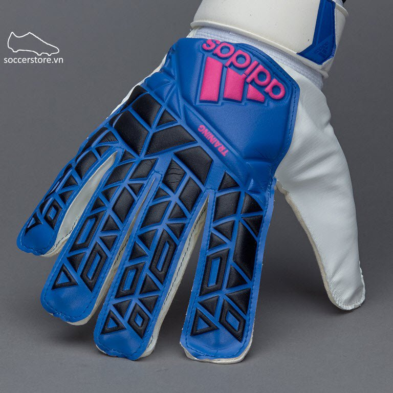 Adidas Ace Training Kids- White/ Blue GK Gloves BR3074