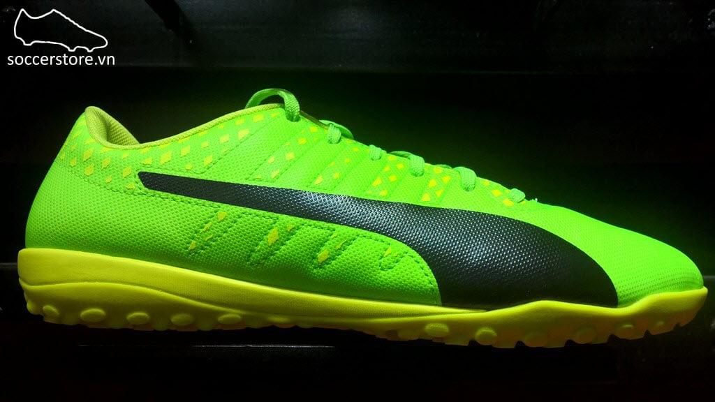 Puma evoPower vigor 4 TF - Green Gecko/ Puma Black/ Safety Yellow