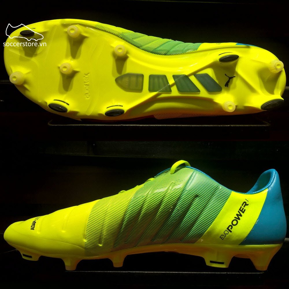 Puma evoPOWER 1.3 FG- Safety Yellow/ Black/ Atomic Blue 103524-01