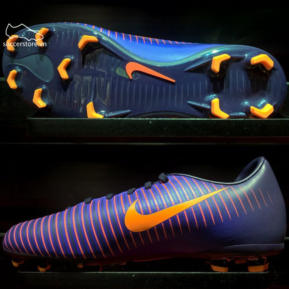 Nike Mercurial Vapor XI Kids FG- Purple Dynasty/ Bright Crimson/ Hyper Grape 831945-585