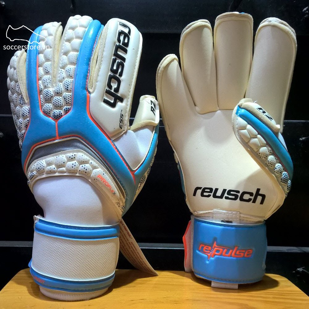 Reusch Repulse Pro A2- Water Blue/ White GK Gloves 3670406-414