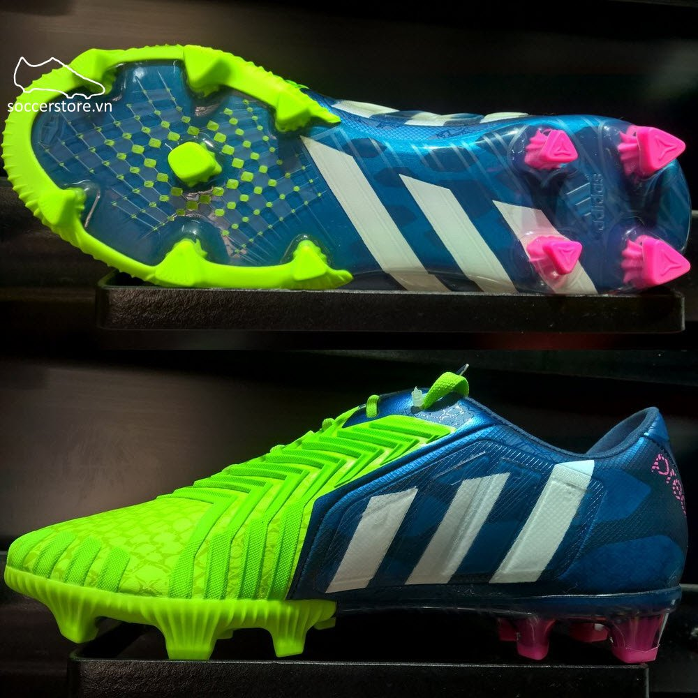 Adidas Predator Instinct FG- Rich Blue/ White/ Solar Green M17644
