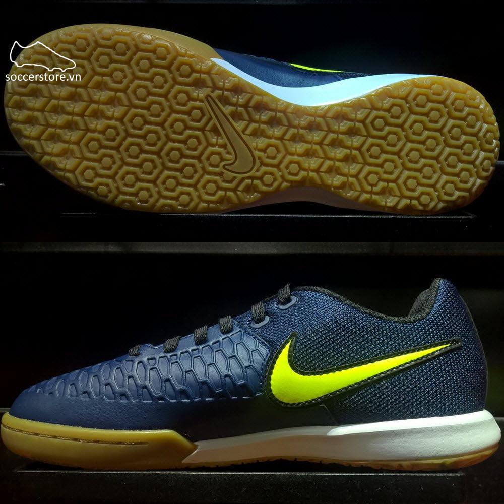 Nike MagistaX Pro IC- Midnight Navy/ Volt/ Light Brown 807413-479