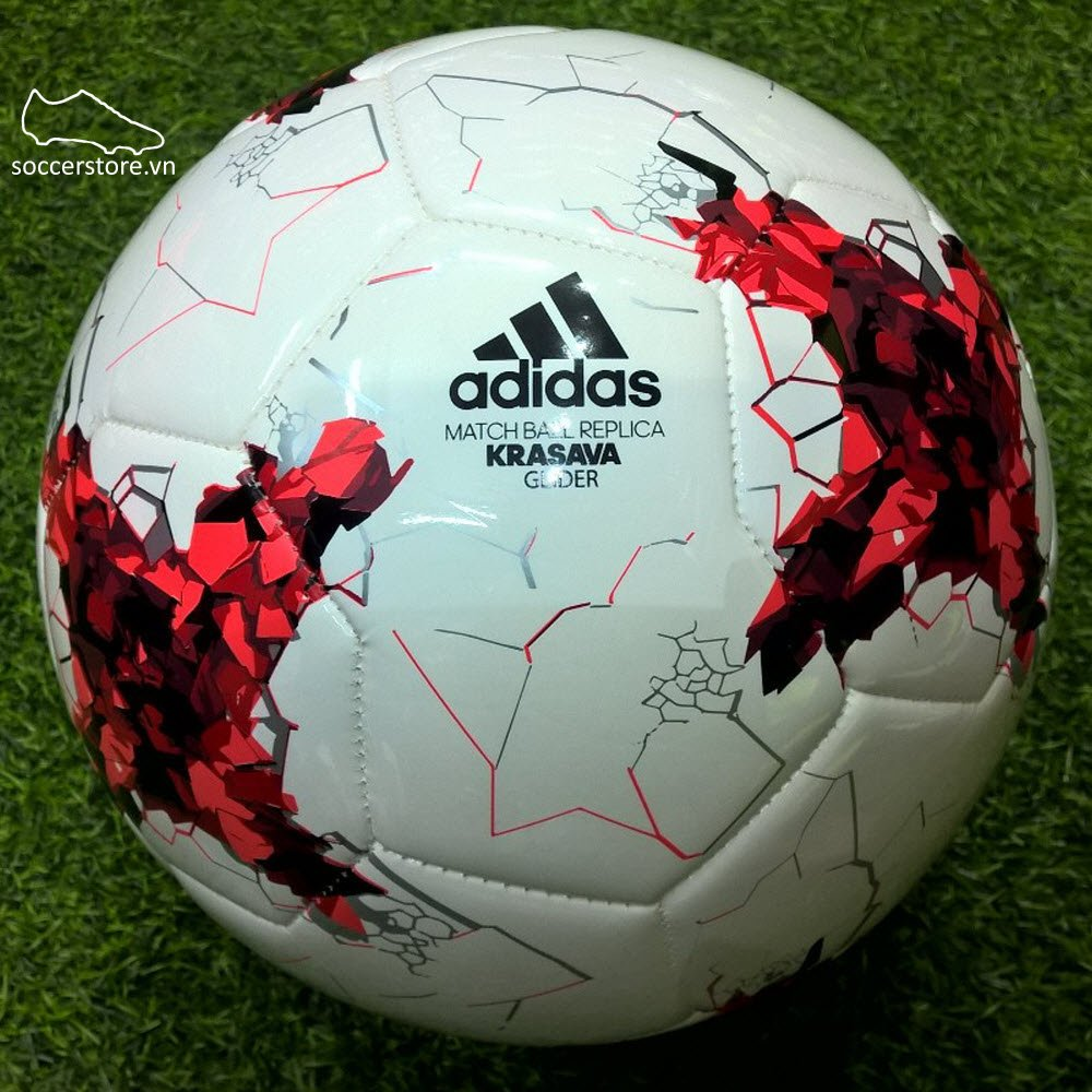 Bóng Adidas Confederations Cup Glider- White/ Red/ Black AZ3188