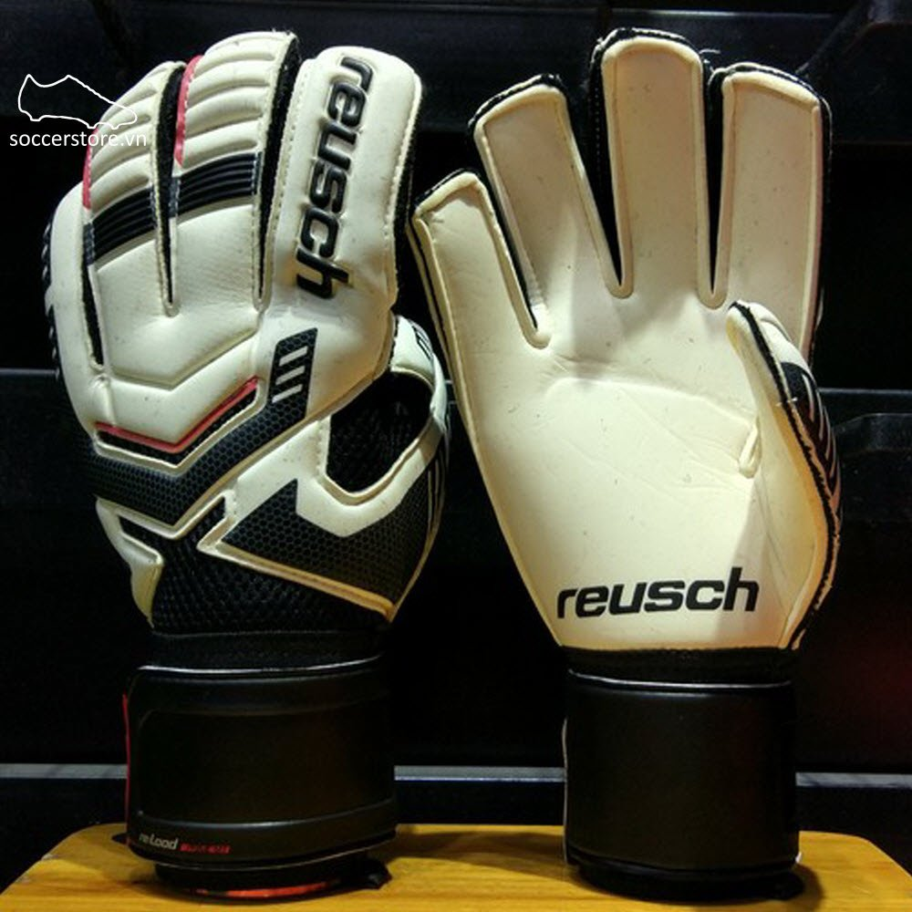 Reusch Reload Prime M1- White/ Black GK Gloves 3570162-101