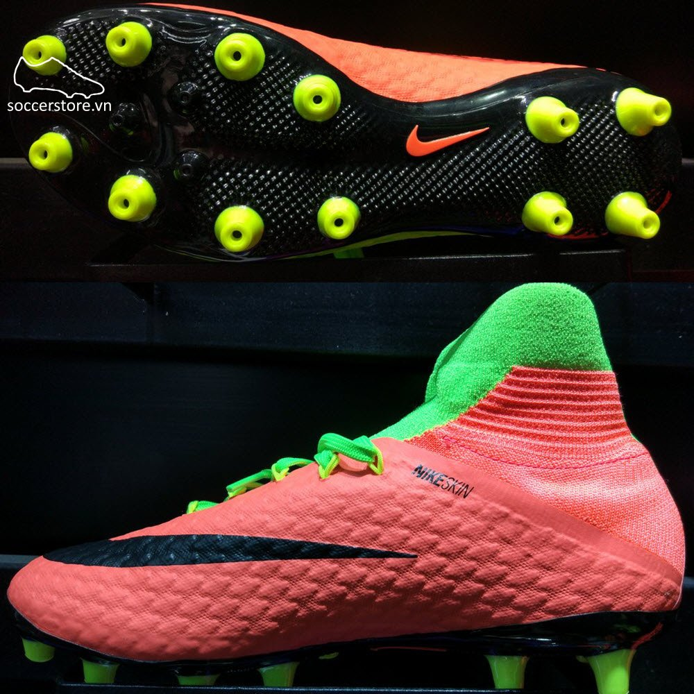 Nike Hypervenom Phatal III DF AG Pro- Electric Green/ Black/ Hyper Orange 860644-308