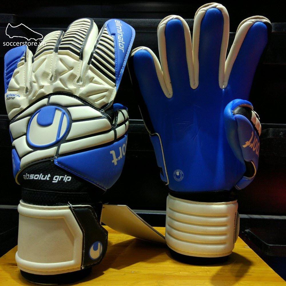Uhlsport Eliminator AbsolutGrip HN- White/ Black/ Energy Blue GK Gloves 1000160-01