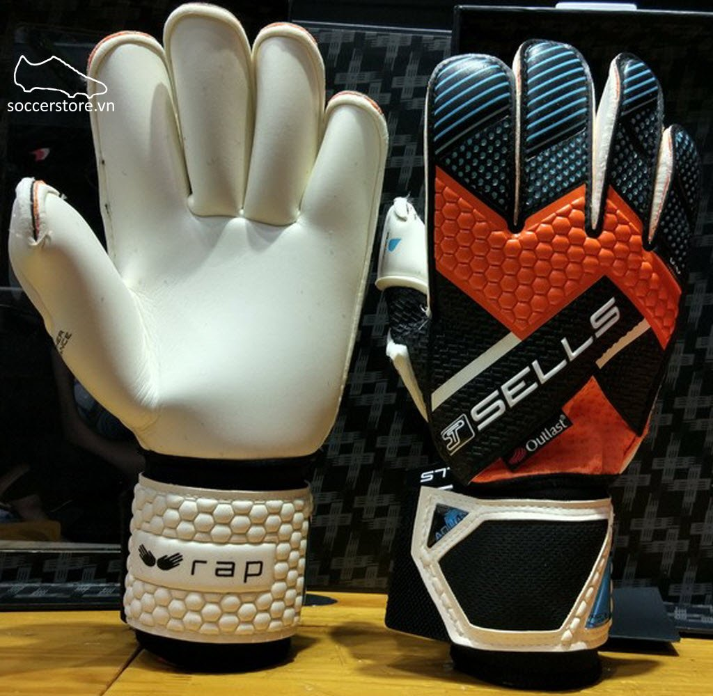 Sells Wrap Aqua Elite- Black/ Orange/ Aqua Blue GK Gloves SGP151612
