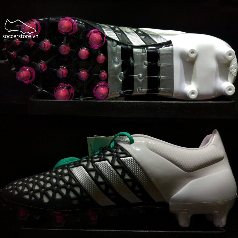 Adidas Ace 15.1 FG/AG- Core Black/ Matte Silver/ White AF5087