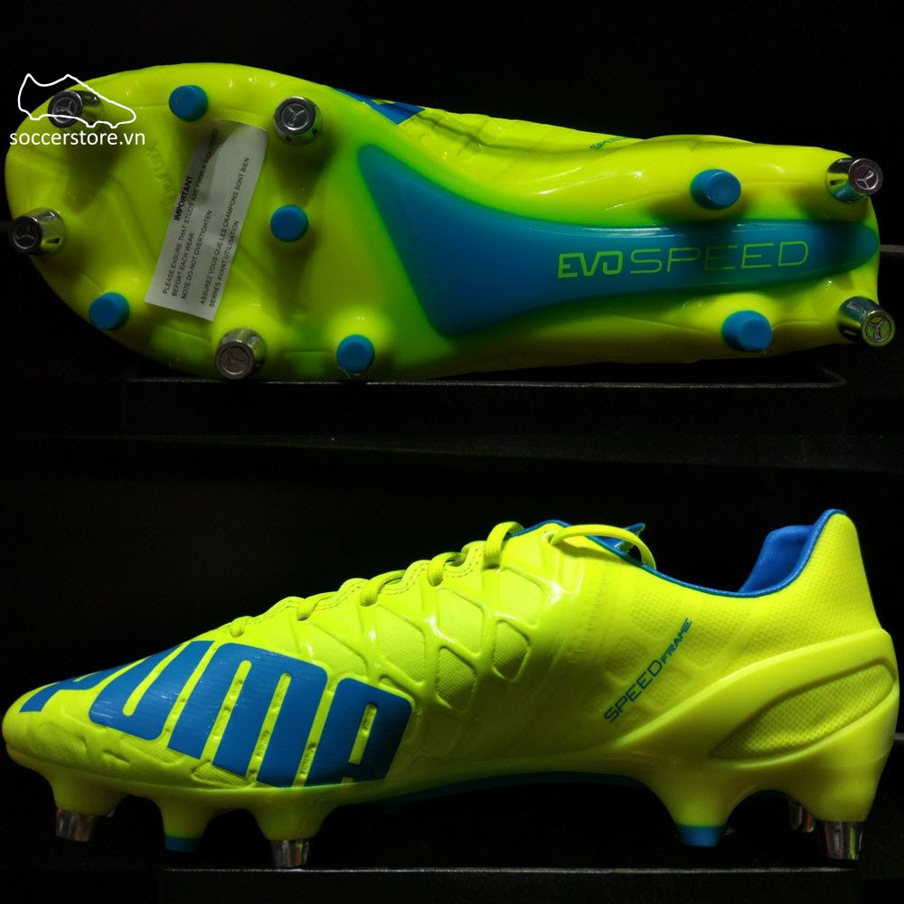 Puma evoSPEED 1.4 Mixed SG- Safety Yellow/ Black/ Atomic Blue 103262-04