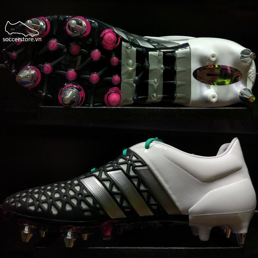Adidas Ace 15.1 SG- Core Black/ Matte Silver/ White AF5176