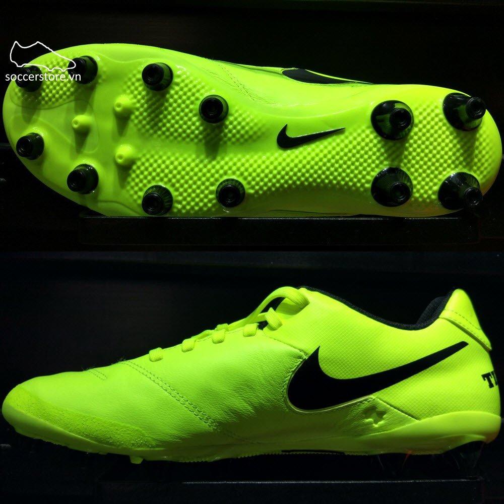 Nike Tiempo Genio II Leather AG Pro- Volt/ Black 844399-707