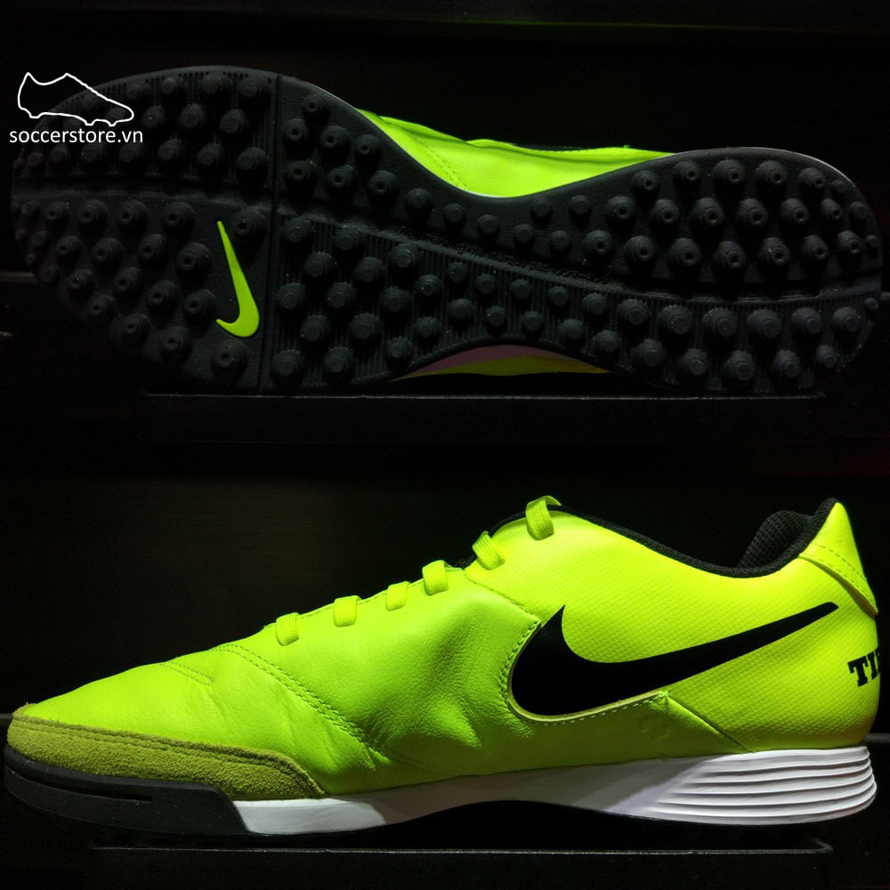 Nike Tiempo Genio II Leather TF- Volt/ Black 819216-707