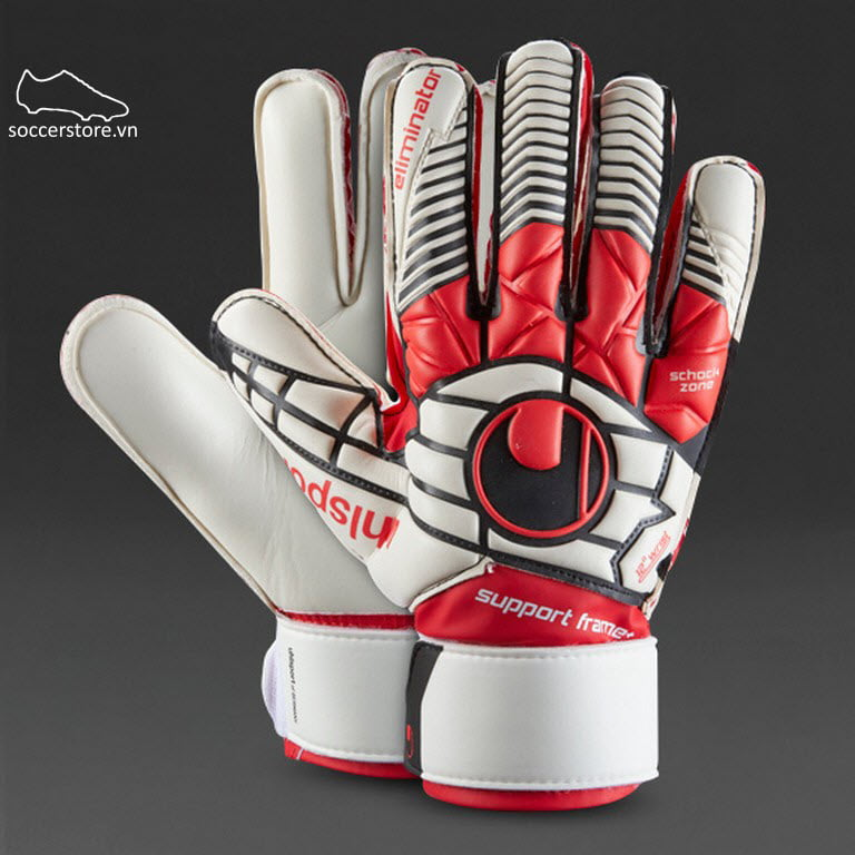 Uhlsport Eliminator Soft SF+ Junior- White/ Red/ Black GK Gloves 1000172-01