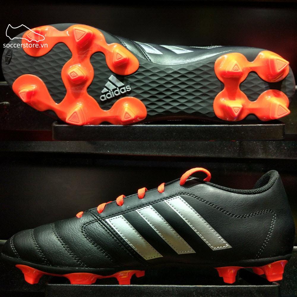 Adidas Gloro 16.2 FG- Core Black/ Silver Metallic/ Solar Red AQ5732