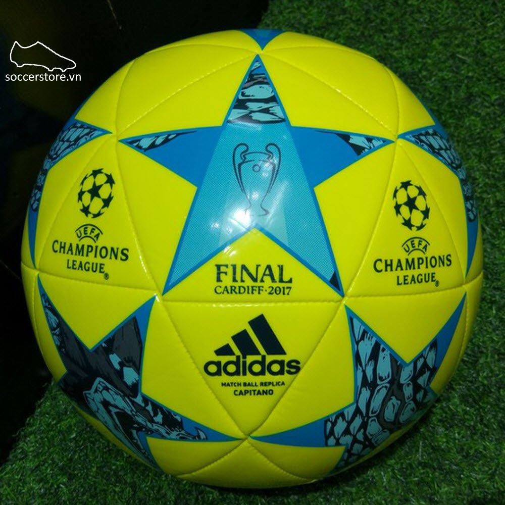 Bóng Adidas Finale Cadiff Capitano- Bright Yellow/ Clear Aqua/ Energy Blue AZ5205