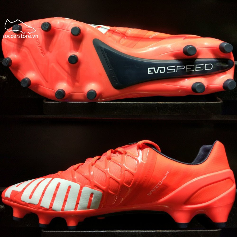 Puma evoSPEED 1.4 FG- Lava Blast/ White/ Total Eclipse 103264-01