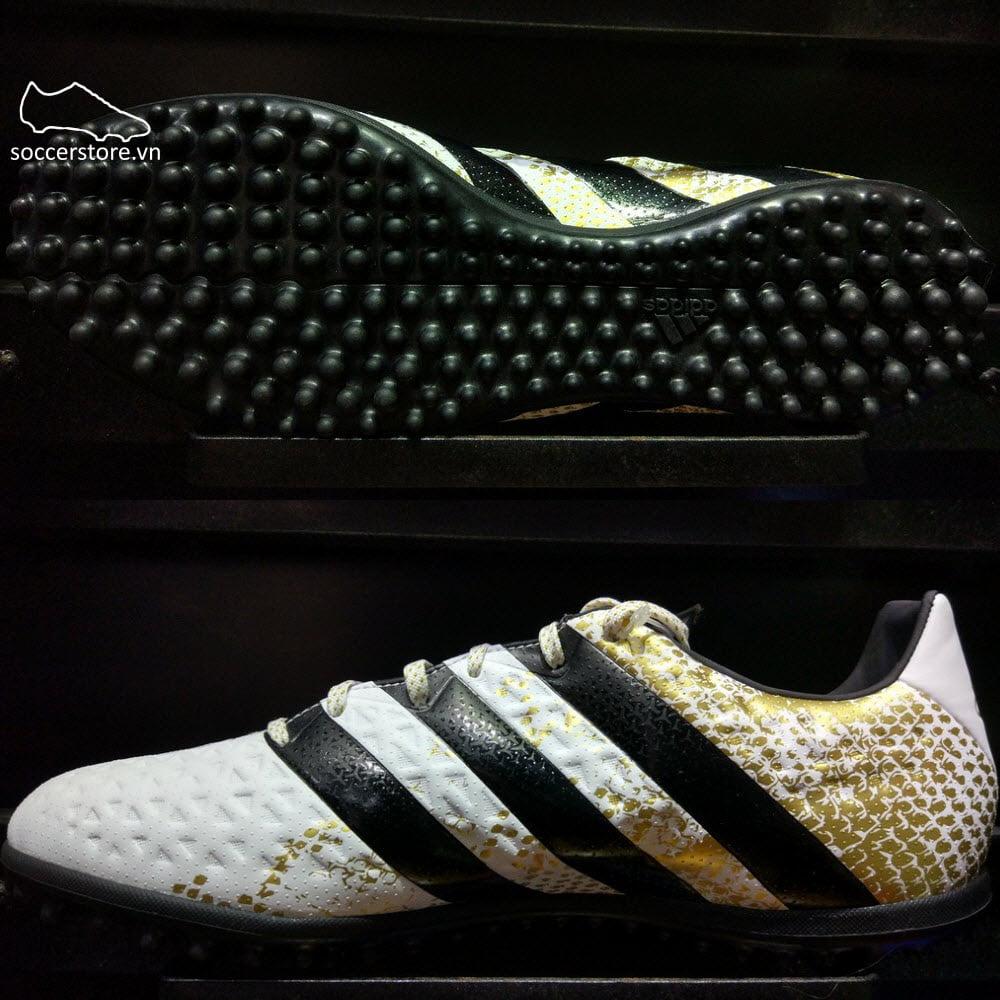 Adidas Ace 16.3 TF- White/ Core Black/ Gold Metallic S31961