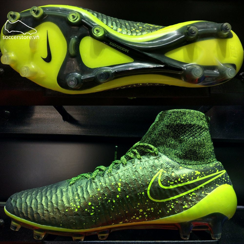 Nike Magista Obra FG- Dark Citron/ Volt/ Black 641322-370