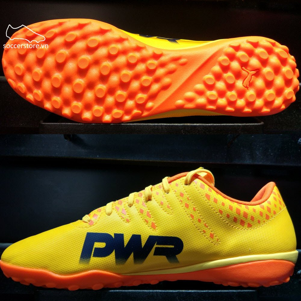Puma evoPOWER Vigor 4 TF- Ultra Yellow/ Peacoat/ Orange Clown Fish 103965-03