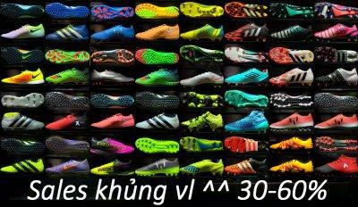 SALES CỰC KHỦNG, SALES 30 65% cho 50 mặt hàng giày bóng đá