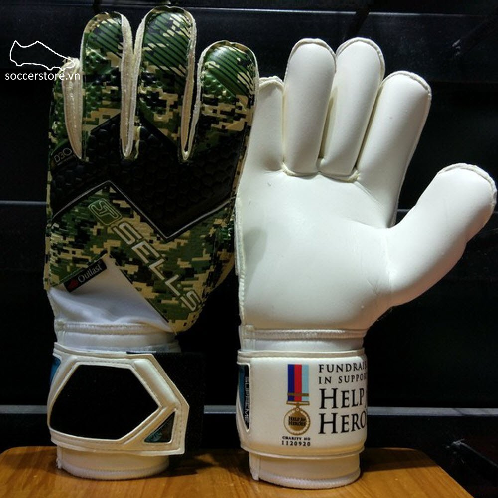 Sells Wrap Aqua Elite HFH- Camo/ Black GK Gloves