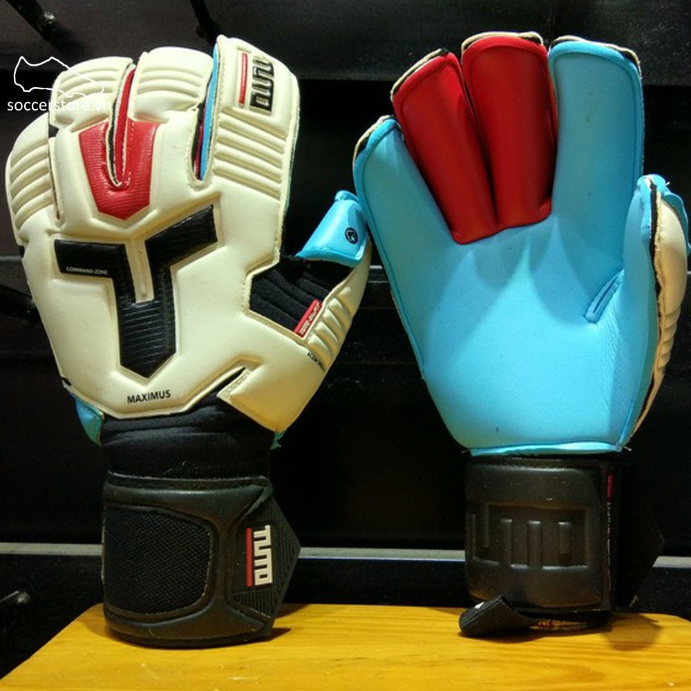 Tuto Maximus Aqua Shield- White/ Black/ Tuto Red GK Gloves