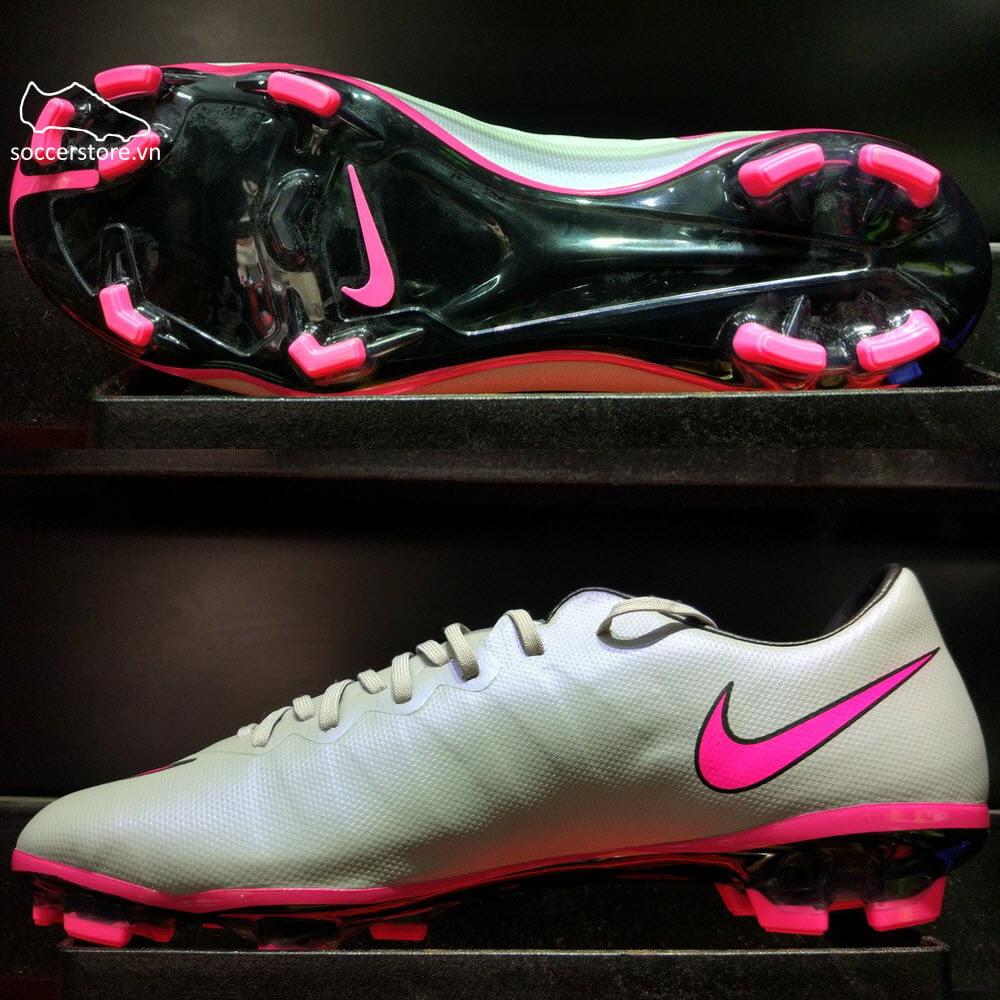 Nike Mercurial Vapor X Kids FG- Wolf Grey/ Hyper Pink/ Black 651620-060