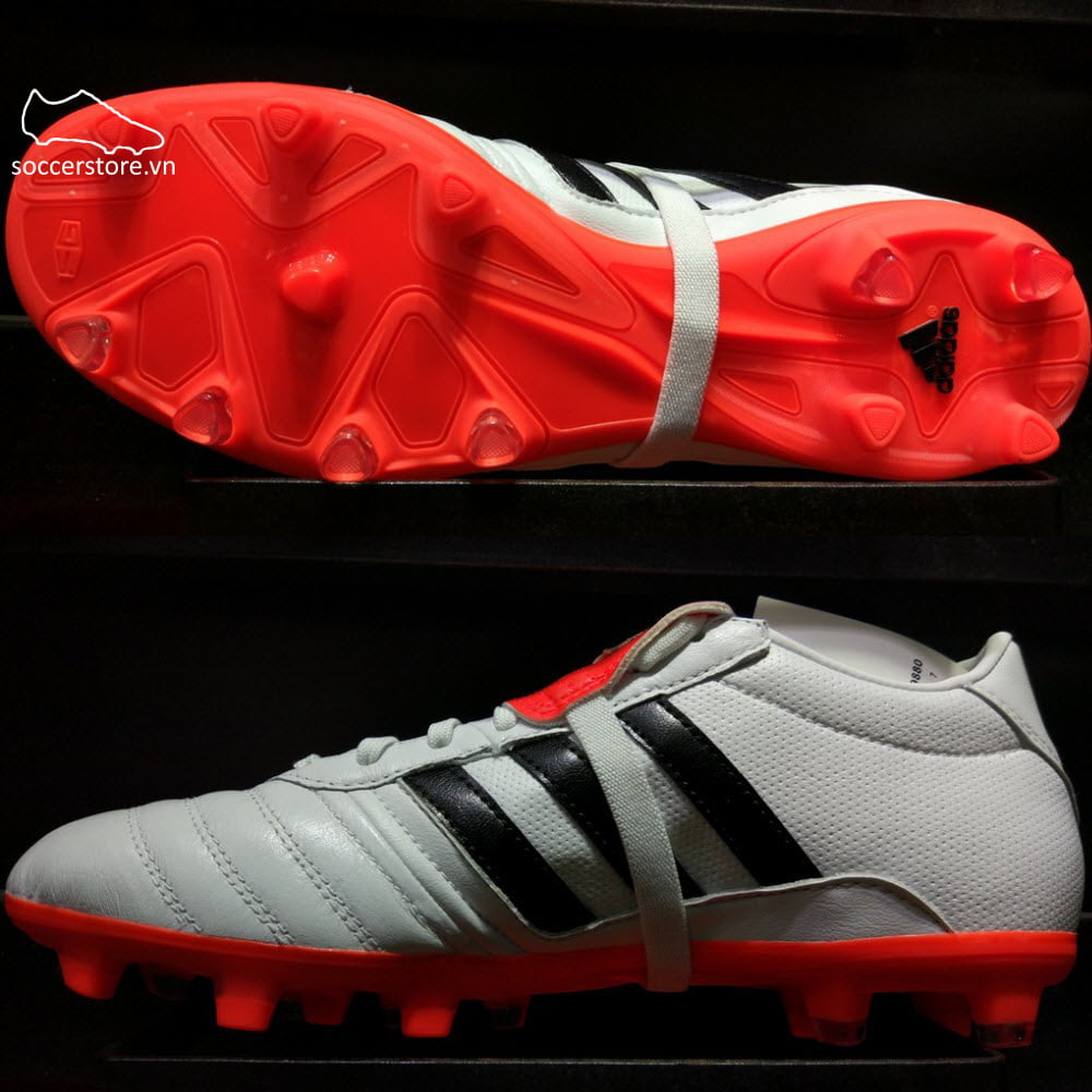 Adidas Gloro 15.1 FG- White/ Core Black/ Solar Red BA9880