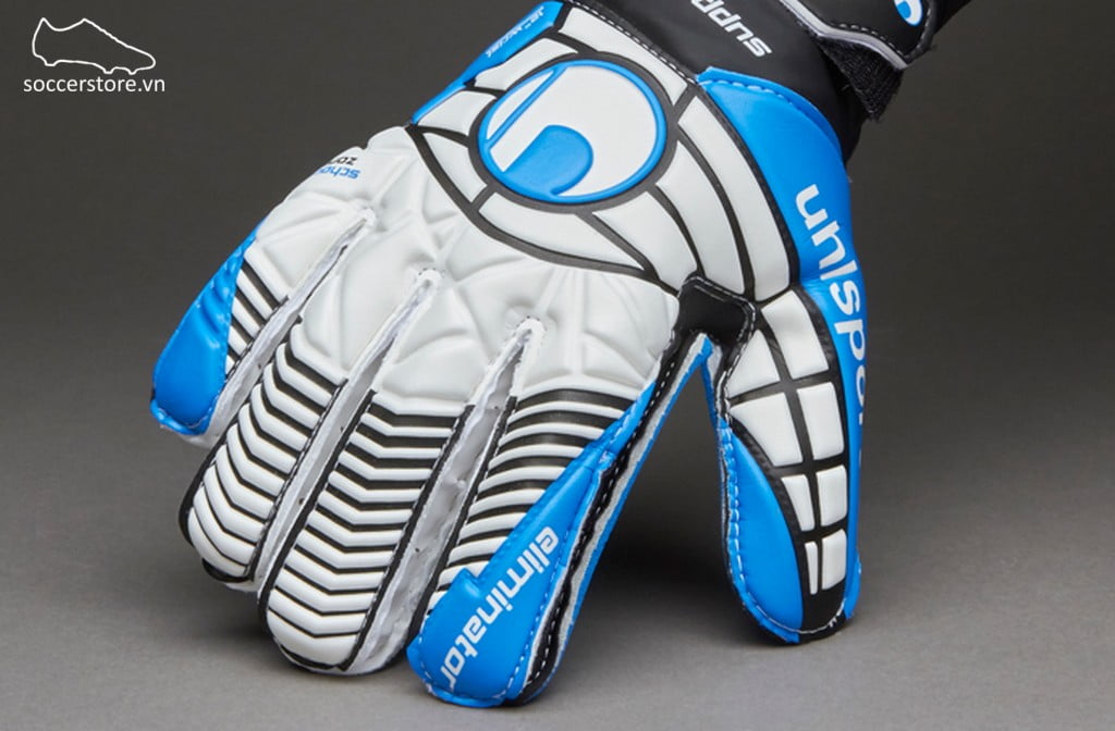 Uhlsport Eliminator Soft SF Kids- White/ Black/ Energy Blue 1000177-01