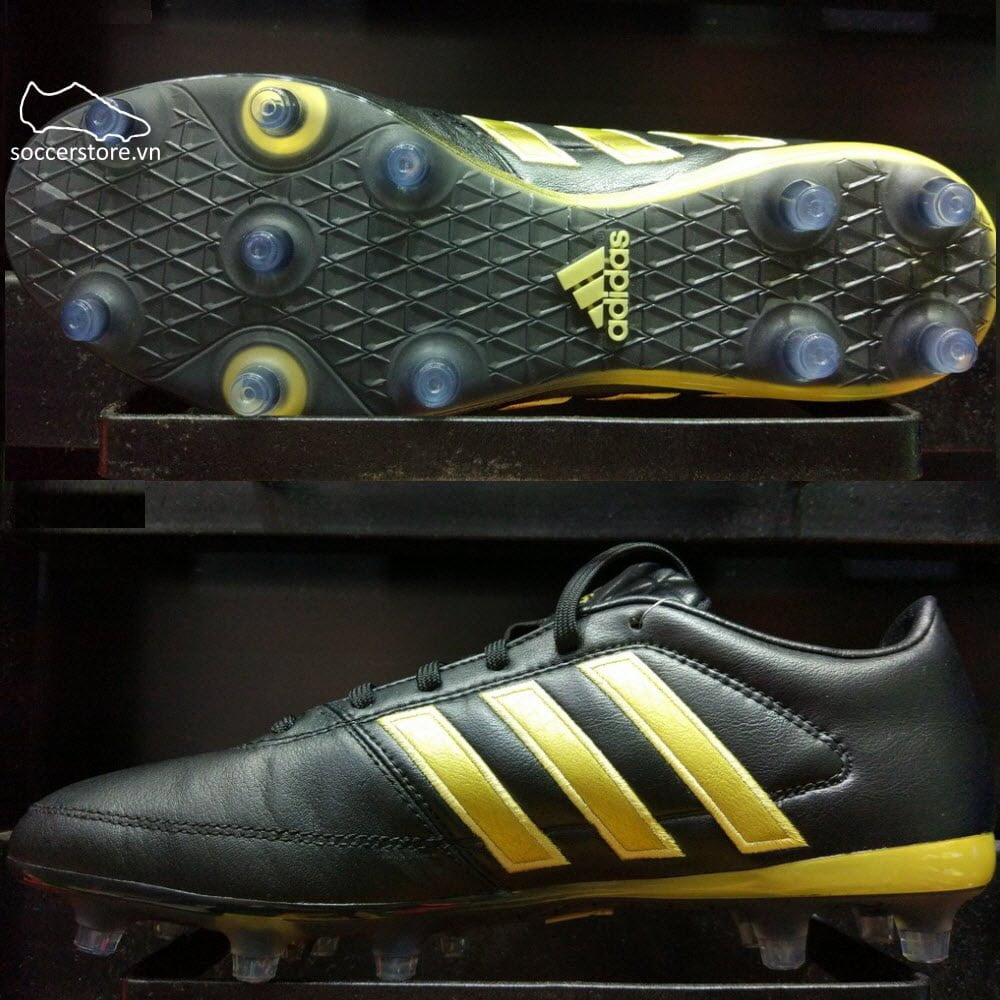 Adidas Gloro 16.1 FG- Core Black/ Gold Metallic S42168