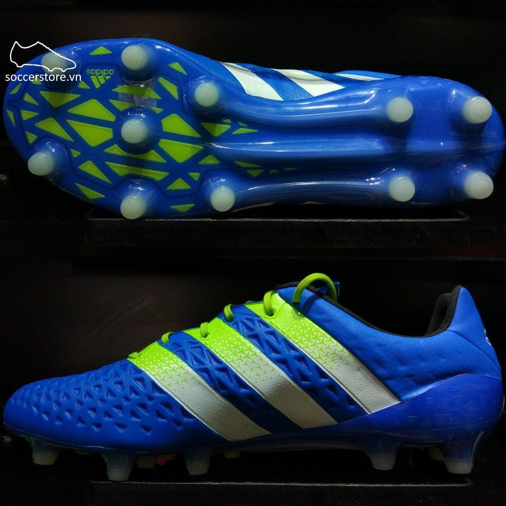 Adidas Ace 16.1 FG/AG- Shock Blue/ Semi Solar Slime/ White AF5085