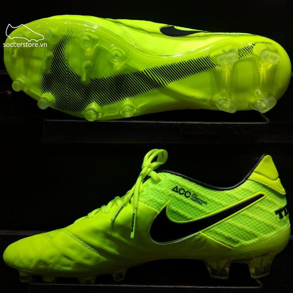 Nike Tiempo Legend VI FG- Volt/ Black 819177-707