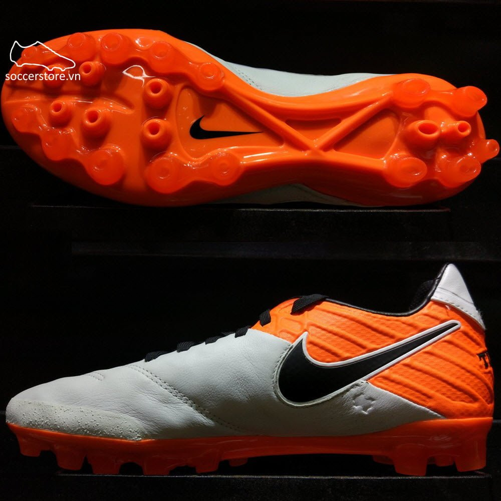 Nike Tiempo Legacy II AG-R- White/ Black/ Total Orange 819217-108