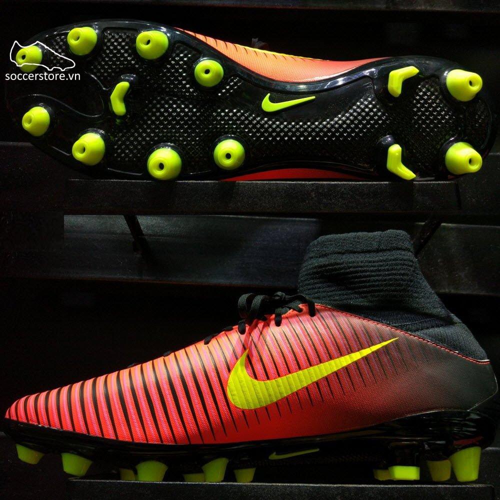 Nike Mercurial Veloce III DF AG Pro- Total Crimson/ Volt/ Pink Blast 831960-870