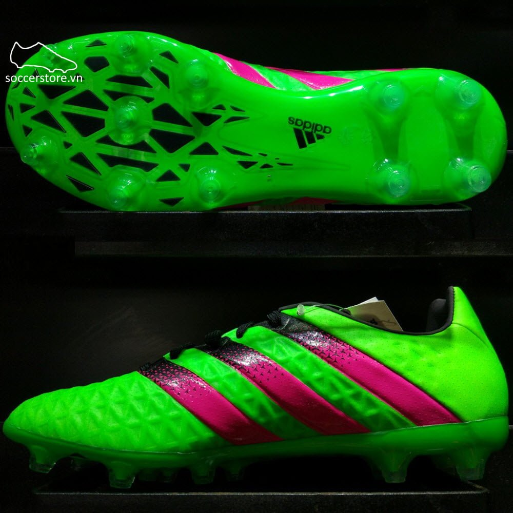 Adidas Ace 16.2 FG/AG- Solar Green/ Shock Pink/ Core Black AF5266