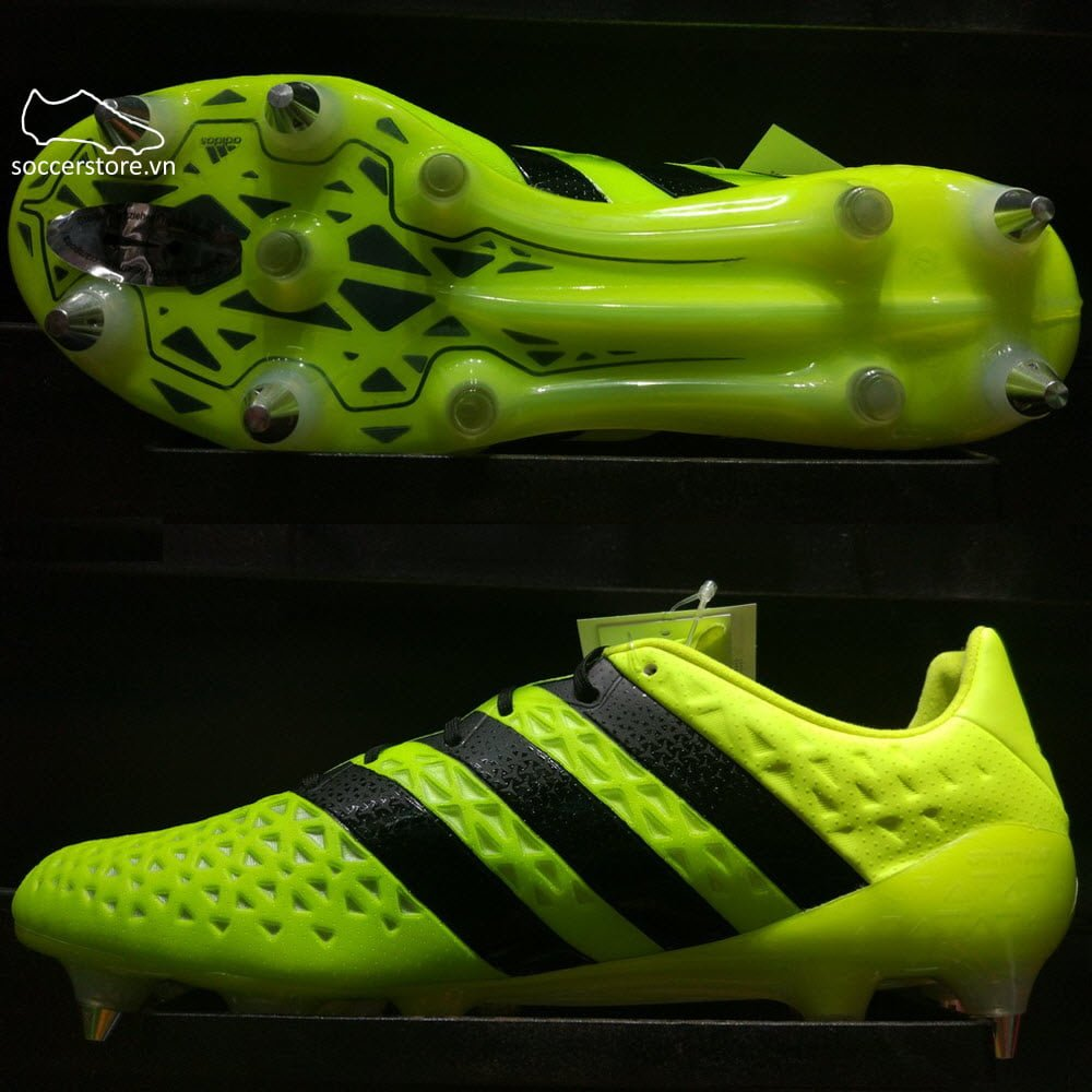 Adidas Ace 16.1 SG- Solar Yellow/ Core Black/ Silver Metallic AQ6367