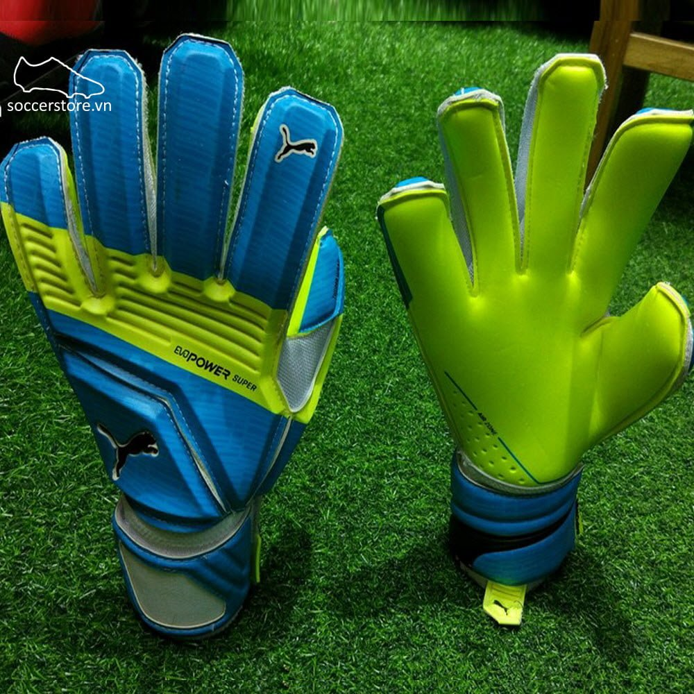 Puma evoPOWER Super 3- Atomic Blue/ Safety Yellow/ Black GK Gloves