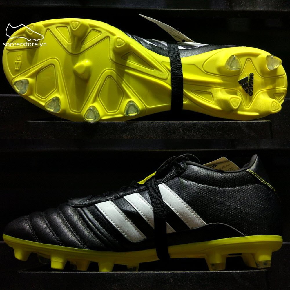 Adidas Gloro 15.1 FG- Core Black/ White/ Bright Yellow B36020