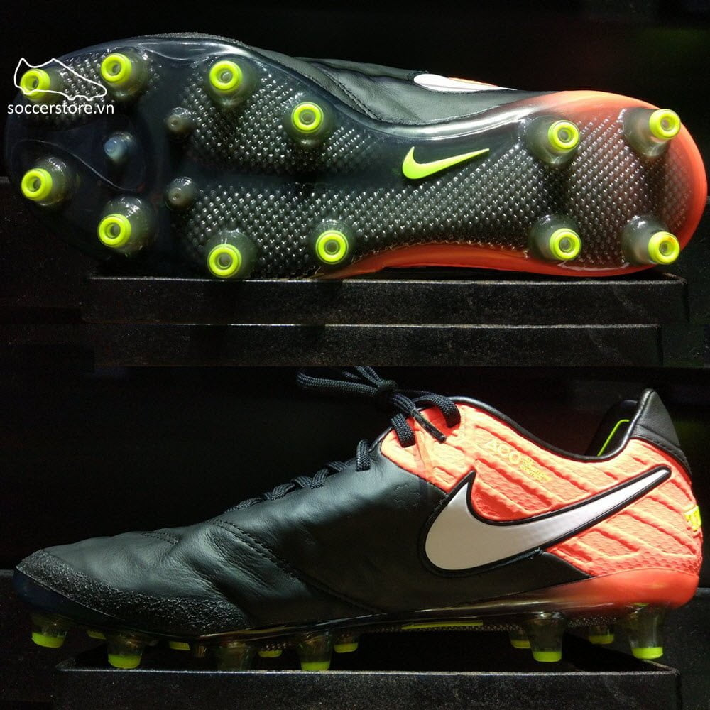 Nike Tiempo Legend VI AG Pro- Black/ White/ Hyper Orange/ Volt 844593-018