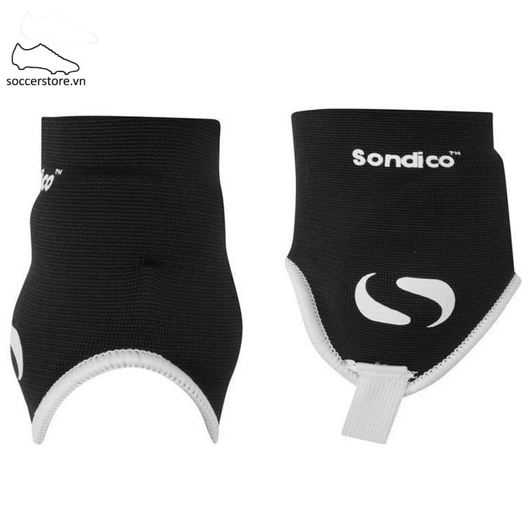 Sondico Ankle Guards Mens- Black/ White SON811099-02