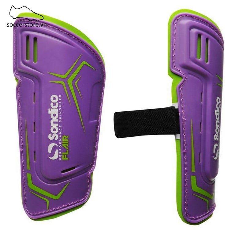 Lót ống đồng Sondico Flair Slip Shinguards Kids- Purple/ Green SON812016-02