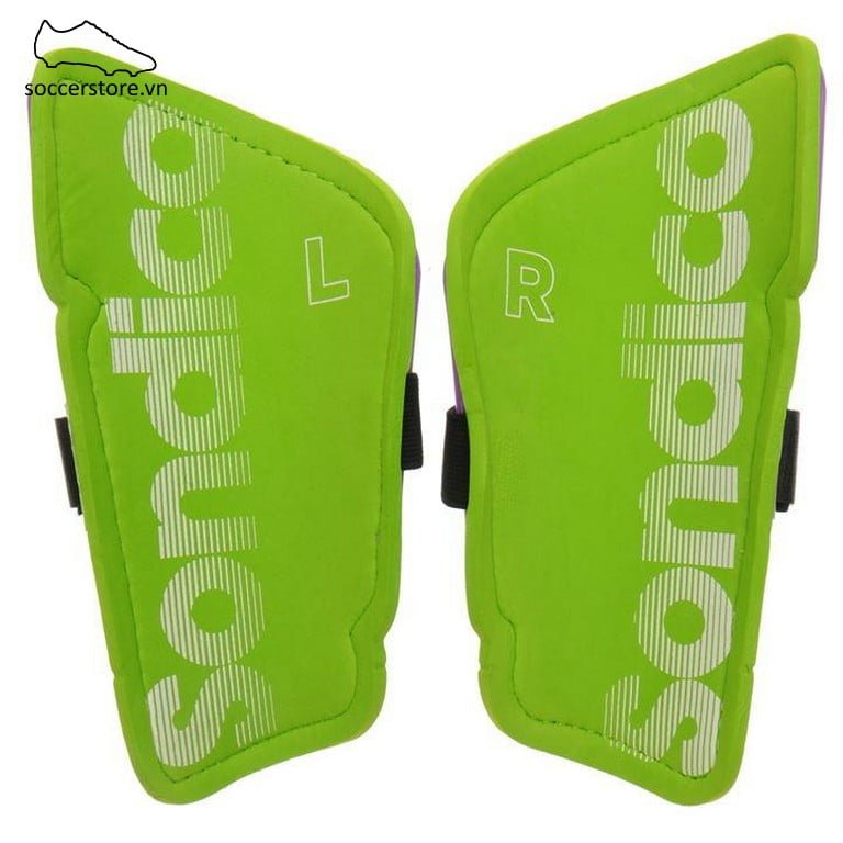 Lót ống đồng Sondico Flair Slip Shinguards Kids- Purple/ Green SON812016-02